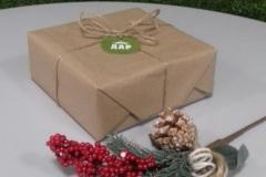Бюджетный вариант упаковки подарка на Новый год.