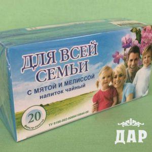Фиточай Для всей семьи с мятой и мелиссой